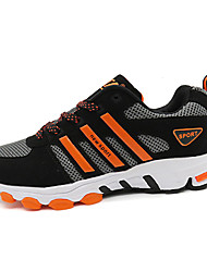 Men's Athletic Shoes Spring Fall Comfort Synthetic Athletic Flat Heel Lace-up Blue Orange Black and White Running