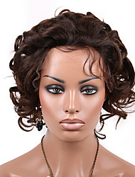 Hot 10-14 Inch Lace Front Brazilian Virgin Remy Human Hair Short curly bob Front Lace Wig with Baby Hair For Women