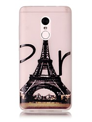 For Xiaomi Redmi Note 4 Pro Glow in the Dark Translucent Case Back Cover Case Eiffel Tower Soft TPU