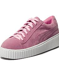 Homme-Décontracté-Rose / BlancConfort-Sneakers-Cuir Verni
