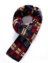 Men Acrylic Scarf,Casual RectanglePatchwork