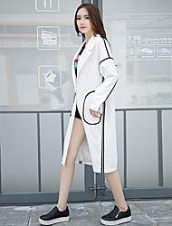 signer une nouvelle version automne 2016 korean de la longue section de la veste coupe-vent beau
