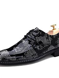 Для мужчин обувь Полиуретан Весна Осень Удобная обувь Туфли на шнуровке Назначение Повседневные Белый Красный Синий