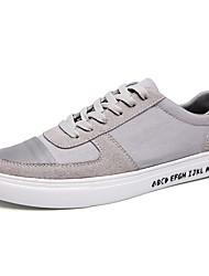 Femme-Décontracté / Sport-Noir / Bleu / Gris-Talon Plat-Confort-Sneakers-Tissu