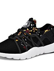 Femme-Extérieure / Décontracté / Sport-Noir / Gris / Multi-couleur-Talon Plat-Confort-Sneakers-Tulle