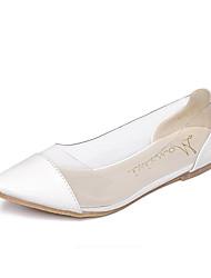 Women's Flats Fall Comfort Microfibre Casual White Silver