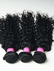 3 Peças Kinky Curly Tramas de cabelo humano Cabelo Malaio 0.3kg 8-30 inch Extensões de cabelo humano