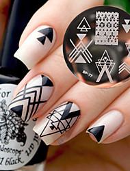 родился довольно bp77 искусства ногтя изображения штамповки пластины геометрии конструкции негативное пространство