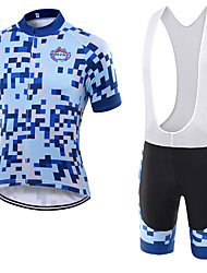 WOLFKEI Summer Cycling Jersey Short Sleeves BIB Shorts Ropa Ciclismo Cycling Clothing Suits #15