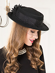 Women's Basketwork Wool Net Headpiece-Wedding Special Occasion Casual Fascinators Hats 1 Piece