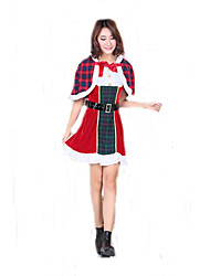 Cosplay Kostuums Kerstmanpakken Film Cosplay Kleding / Shawl / Riem Kerstmis Vrouwelijk Polyester