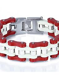 Kalen Trendy Jewelry 316 Stainless Steel Bike Chain Bracelets Heavy Biker Bicycle Link Chain Bracelets From China Factory Supplier