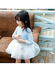 Girl's Casual/Daily Solid Dress,Cotton Summer / Fall Long Sleeve