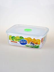 rectangular tirar recipiente de alimento transparente com furo de ar