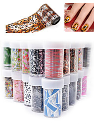 12pcs/lot Sexy Flowers Butterfly Nail Decals Nail Art Transfer Foils Stickers Random Color