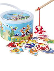 Brinquedos Magnéticos Brinquedo Educativo Golfinho Peixes Polvo Tubarão Animal Madeira