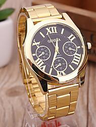 Da donna Orologio elegante Orologio alla moda Orologio da polso Orologio braccialetto Quarzo Punk Quadrante grande Lega BandaVintage