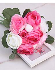 Hochzeitsblumen Rundförmig Rosen Sträuße Partei / Abend Spandex 45 cm ca.