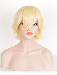 Hot Selling Women Blonde Color Synthetic Wigs Short Curly Wigs