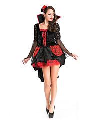 Fête / Célébration Déguisement Halloween Rouge/noir Couleur Pleine Jupe / Chapeau Halloween / Noël / Carnaval Féminin