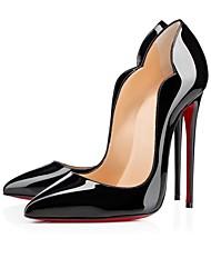 Feminino-Saltos-Sapatos com Bolsa Combinando-Salto Agulha-Preto / Azul / Amarelo / Vermelho-Courino-Escritório & Trabalho / Casual /