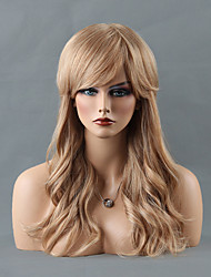 сексуальная красота долго монолитным парики естественная волна человеческих волос парики