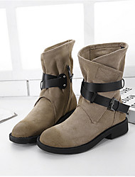 Women's Boots Others Suede Casual Black Almond