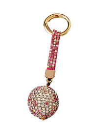 Key Chain Leisure Hobby Key Chain / Diamond / Gleam Circular Metal Rose