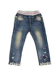 Girl Going out / Casual/Daily / School Patchwork Jeans-Denim All Seasons