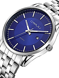 Men's Sport Watch Military Watch Dress Watch Fashion Watch Wrist watch Calendar Quartz Japanese Quartz Stainless Steel BandCharm Bangle