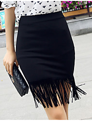 Sign 2016 spring new Korean tassel package hip skirt A skirt Slim was thin fashion personality skirt