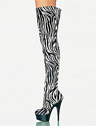 Women's Boots Spring Fall Winter Platform Novelty Customized Materials Dress Casual Party & Evening Stiletto Heel Platform Zipper