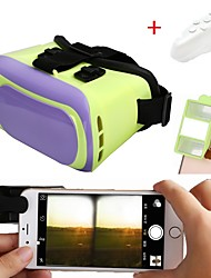 3D VR Glasses Virtual Reality Headset with 3D Mini Camera Lens Make 3D Movie Game for Smartphone with  Remote Controller