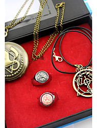 Inspired by Fullmetal Alchemist Edward Elric Anime Cosplay Accessories Necklace / Clock/Watch / Ring