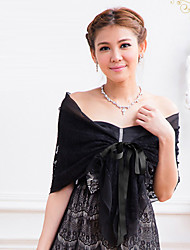 Wedding  Wraps / Shawls Shawls Chiffon / Lace Black / White Party/Evening / Casual Lace-up