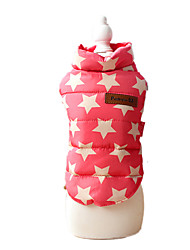 Dog Coat Pink Dog Clothes Winter / Spring/Fall Stars Keep Warm