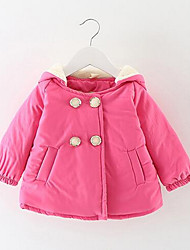 Girl Solid Down & Cotton Padded,Cotton Winter Long Sleeve