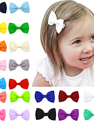 20 Colors/Set Hair Bow Clips Infant Hair Bows Children Hair Accessories