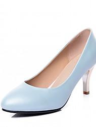 Белый Синий Розовый-Для женщин-Для офиса Повседневный Для праздника-Дерматин-На шпилькеОбувь на каблуках