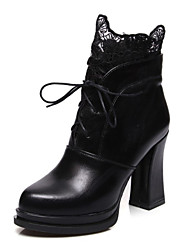 Women's Boots Spring / Fall / Winter Others Fleece Wedding / Office & Career / Party & Evening / Dress Chunky Heel OthersBlack / Blue /