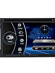 6.2 2 Din HD Touch Car DVD Player Stereo Bluetooth FM Radio USB/SD Camera Input MP3/WMA/MP4/MP5 Russ/Portuguese/Spanish/French