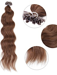 Neitsi 20'' 50g/lot Curl Wavy Pre bonded U Nail Tip Human Hair Extensions