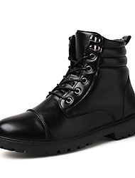 High Quality Men's Fashion Combat Boots Comfort High Top Leather Shoes Party & Evening Flat Heel Lace-up EU39-43