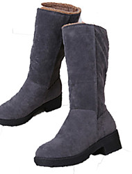 Women's Boots Spring Fall Winter Comfort Suede Outdoor Dress Casual Low Heel Zipper Black Gray Walking