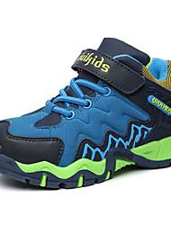 Para Meninos-Tênis-Conforto-Rasteiro-Azul Laranja Azul Real-Couro Ecológico-Casual Para Esporte