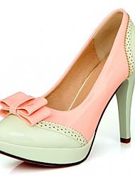 Damen-High Heels-Büro Lässig Kleid-Kunstleder-StöckelabsatzGrün Rosa