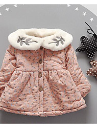 Girl's Casual/Daily Floral Dress,Cotton Fall Winter Long Sleeve