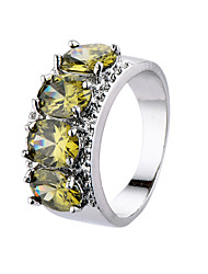 Fashion Colorful Zircon Platinum Plating Women Jewelry Rings Female Smart Rings Engagement Wedding Rings