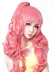 Lolita Wigs Sweet Lolita Lolita Medium / Curly Pink Lolita Wig 55 CM Cosplay Wigs Solid Wig For Women