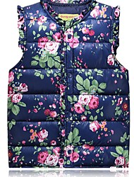Girl Casual/Daily / School Floral Vest,Polyester / Nylon Winter / Fall Sleeveless